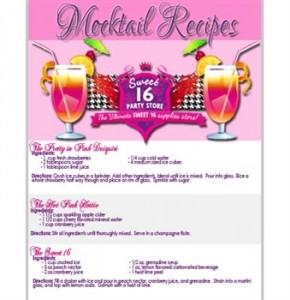 Sweet 16 Mocktail Drink Recipes