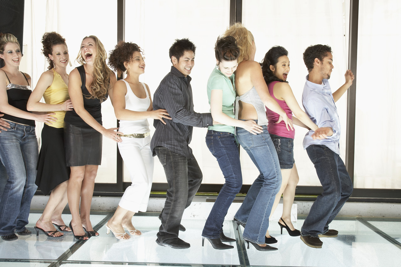 Backyard Party Line Dance :  line dancing music and get the guests to learn how to line dance