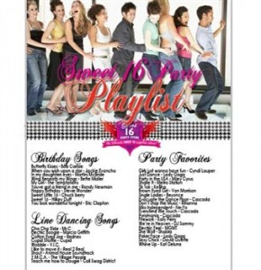 Sweet 16 Party Songs Playlist