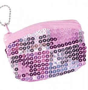 Pink Sequin Coin Purse - Sweet 16 Favors