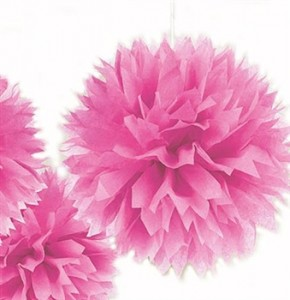 Pink Pouf Sweet 16 Decorations