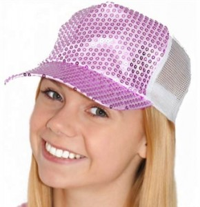 Purple Sequin Sweet 16 Hat